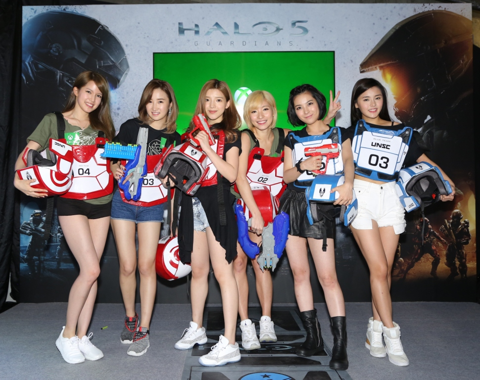 Hong Kong celebrities invited to promote the release of Xbox game 'Halo 5: Guardians'