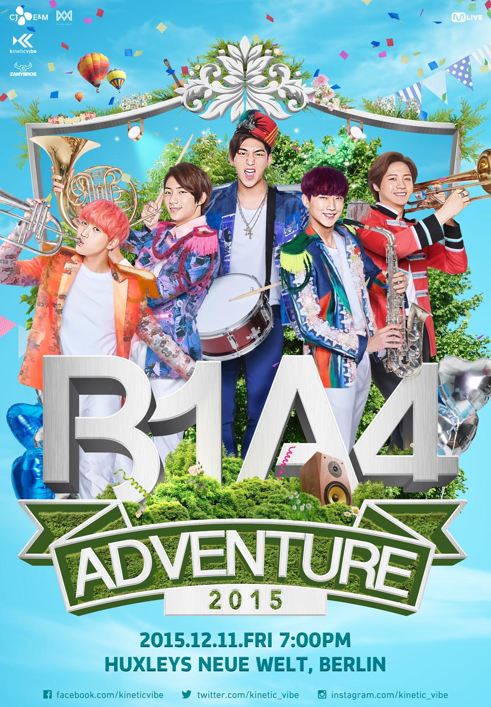B1A4 ADVENTURE in Europe 2015 – Tickets on sale