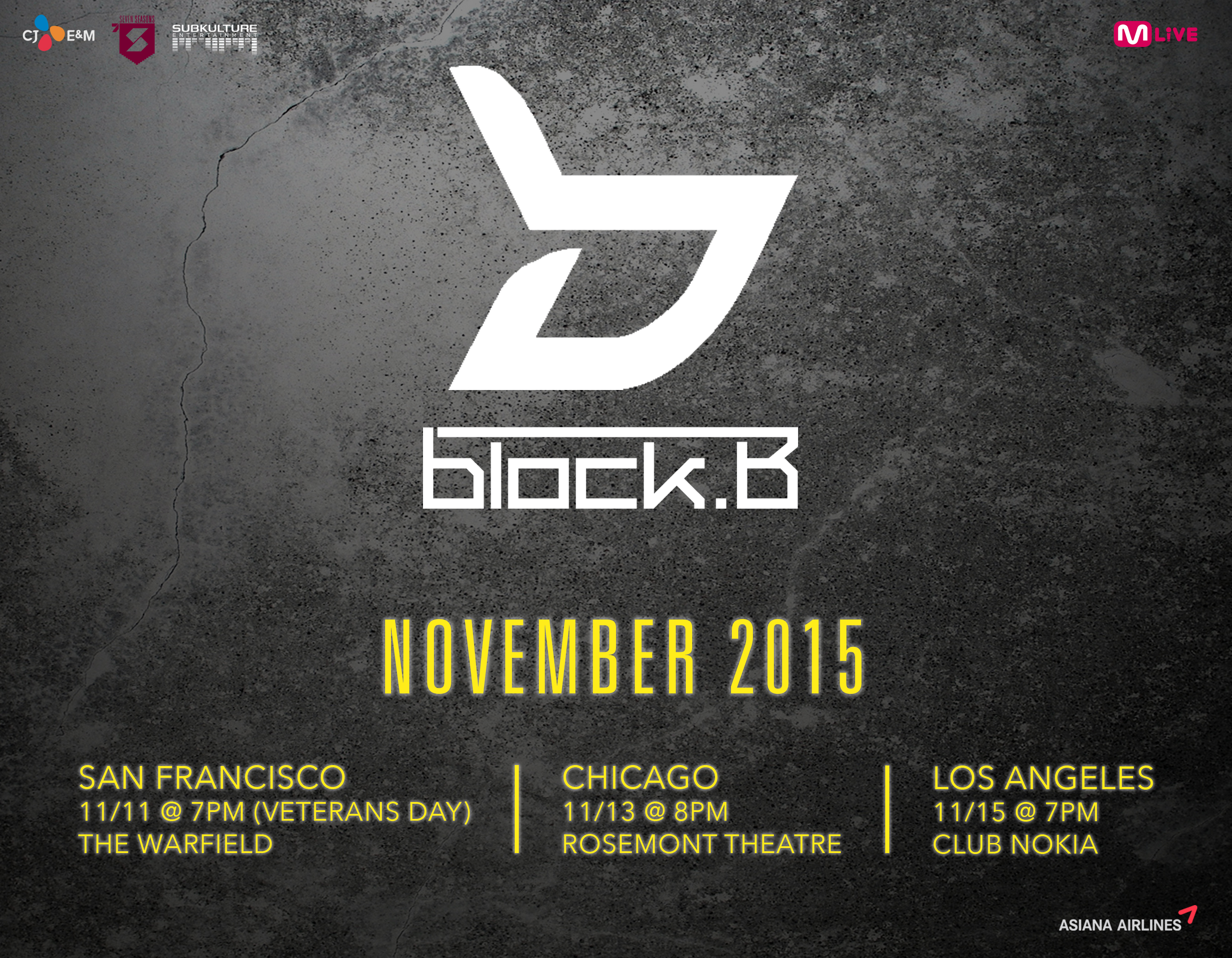 Additional Information and Ticket Pricing for 2015 Block B US Tour Announced