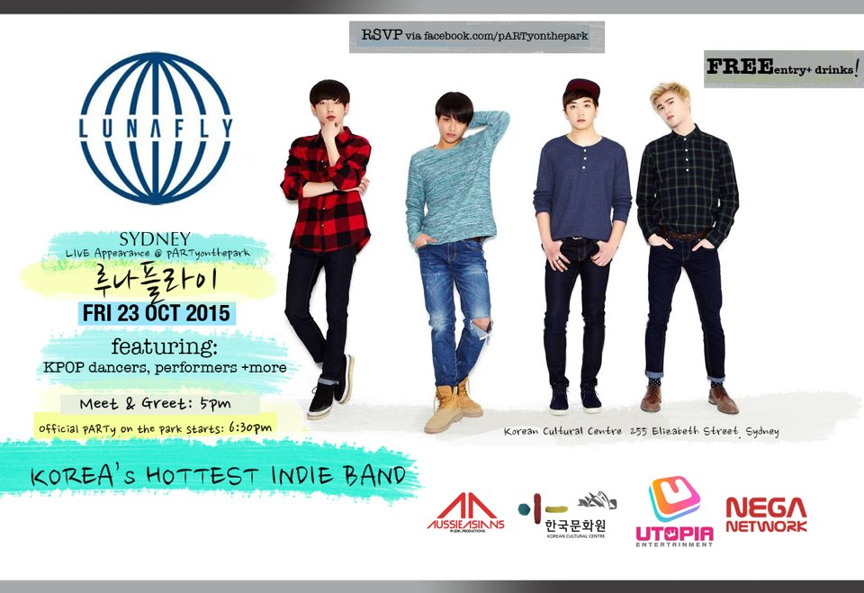 LUNAFLY to perform at KCC Party On The Park on 23rd October