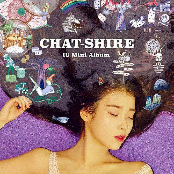 Album cover unveiled for IU's new mini-album 'CHAT-SHIRE'