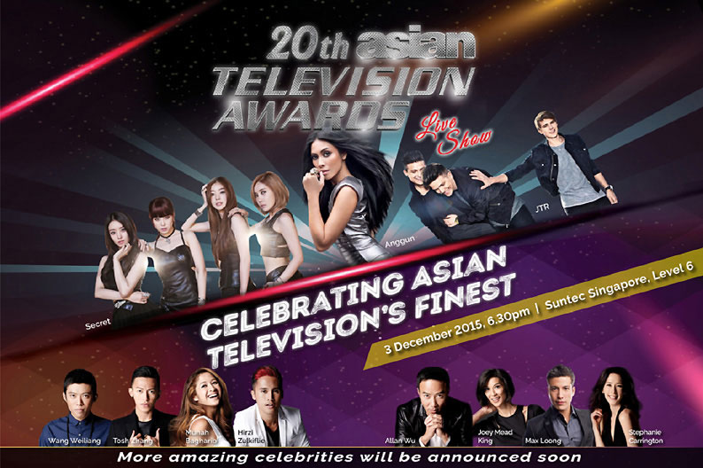 Asia Television's finest to celebrate the 20th Asian Television Awards in Singapore