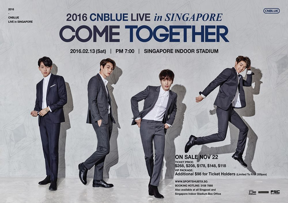 CNBLUE about to rock Singapore with 'Come Together' Live Concert