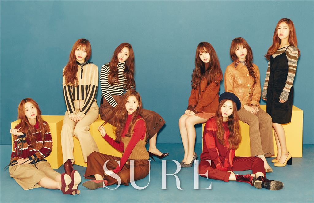 Lovelyz Channels the Retro Look for Sure Magazine Photoshoot