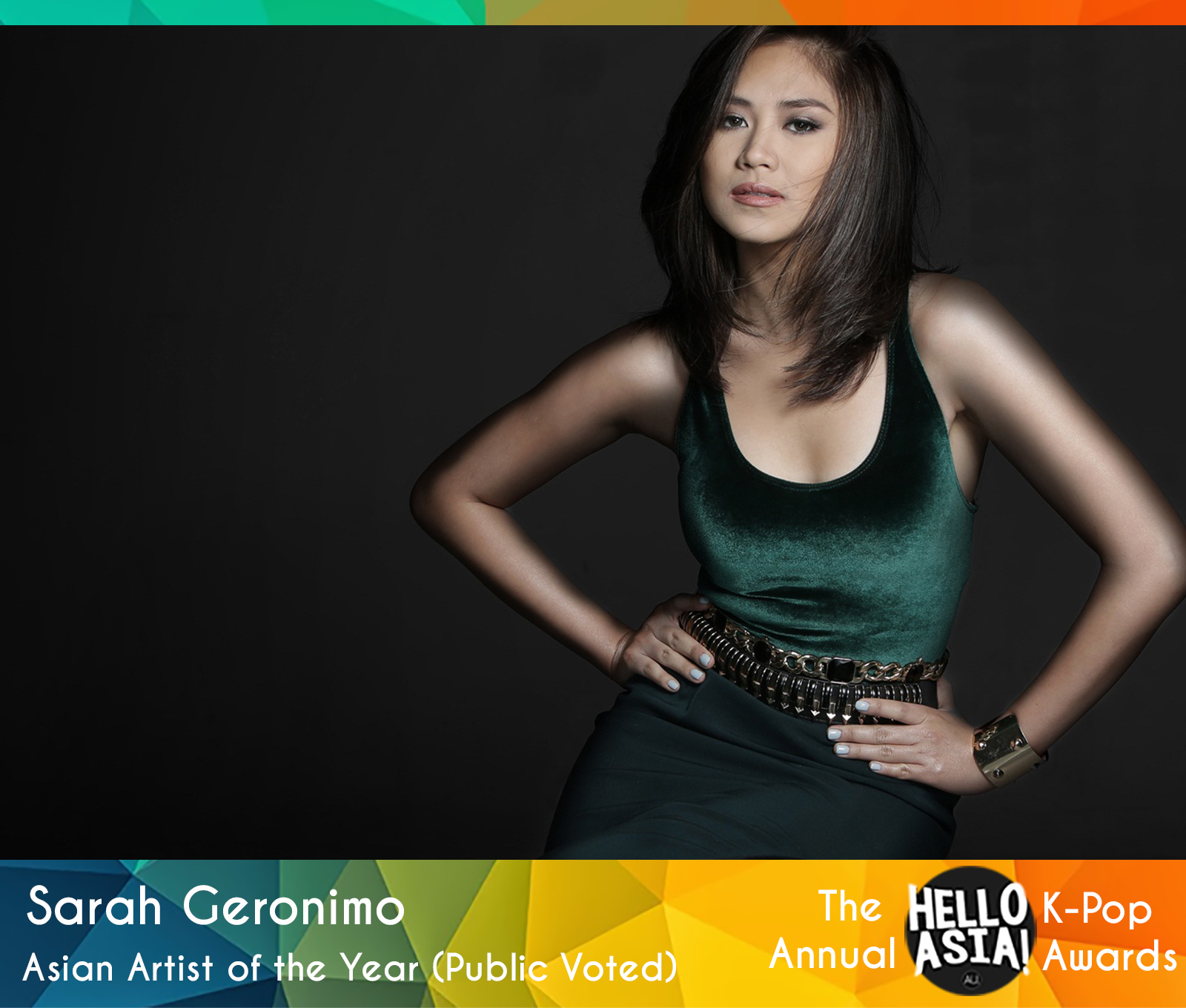 Philippine pop star Sarah Geronimo takes out 2015 Asian Artist of the Year Award