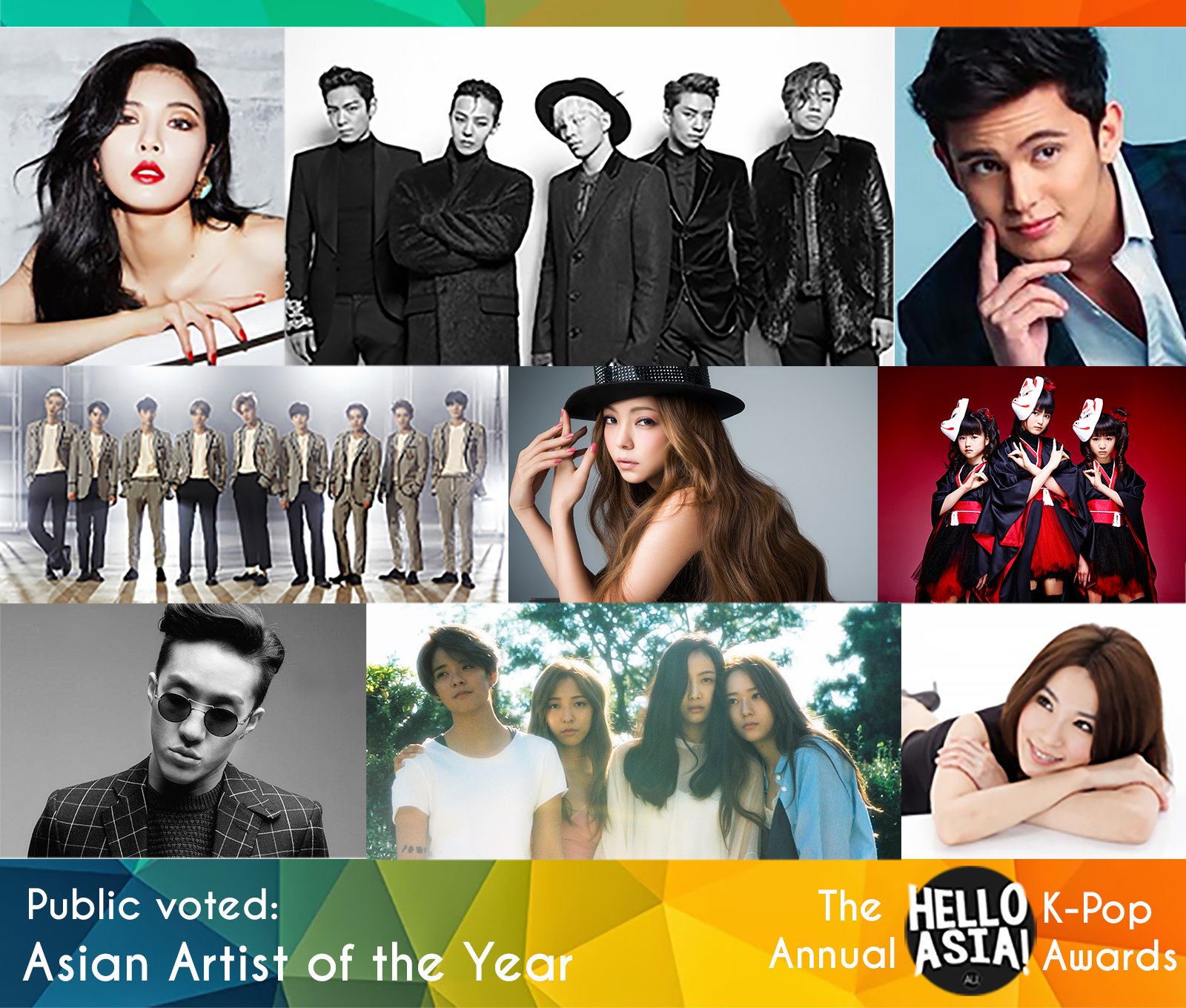 Live Blog: Hello Asia 2015 Asian Artist of the Year Broadcast