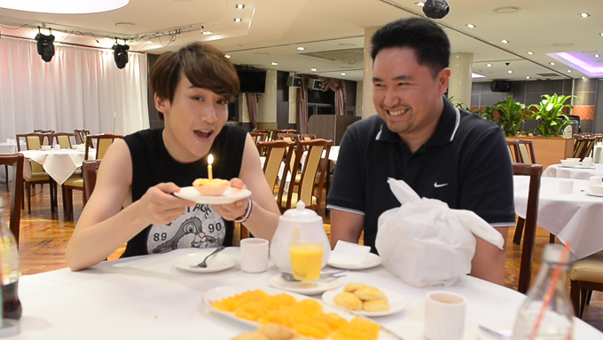 "Watch Prince Mak serenade our editor Johnny with ""Happy Birthday"""