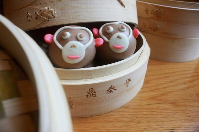 Din Tai Fung will be offering chocolate and banana monkey buns for Chinese New Year