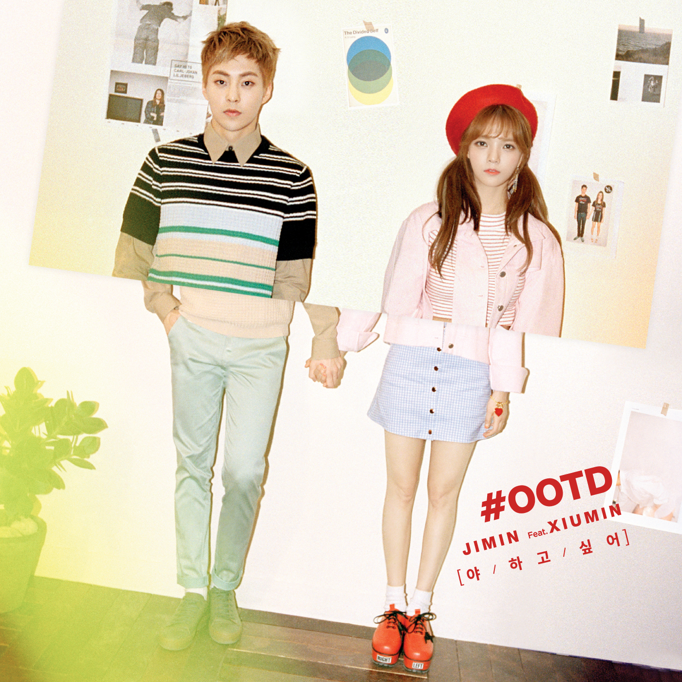 AOA's Jimin and EXO's Xiumin show off their chemistry in 'Call You Bae' teaser image