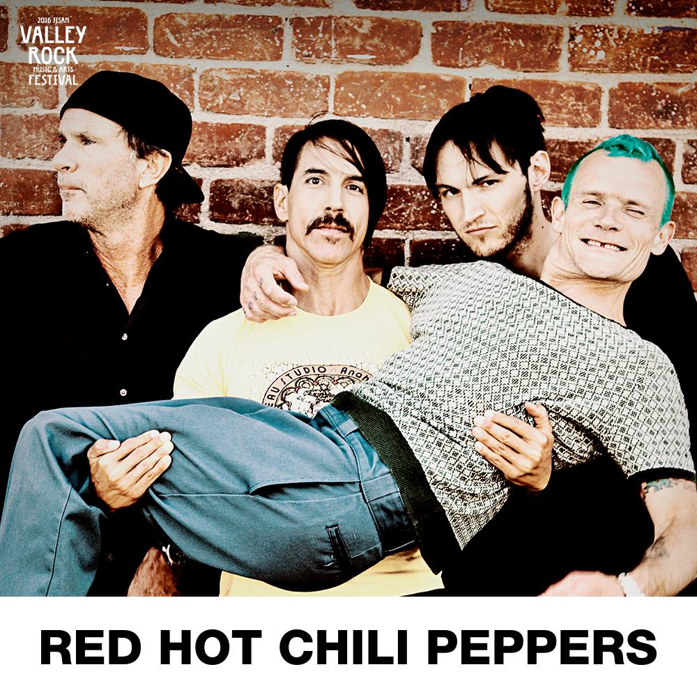 Red Hot Chili Peppers headlines 2016 Jisan Valley Rock Festival first announcement