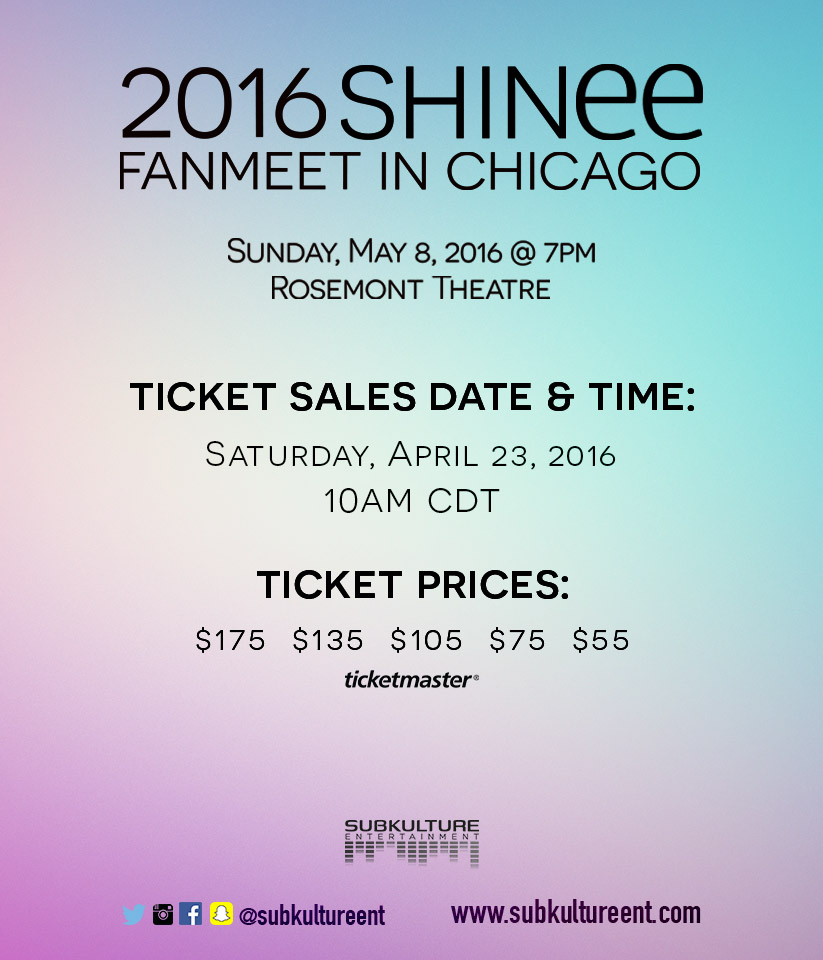 SHINee Ticket Sales Date & Prices