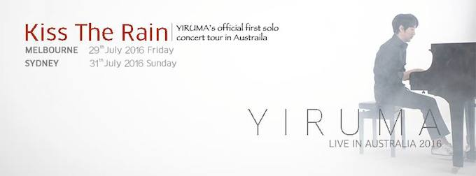 YIRUMA announces official first solo concert tour in Australia