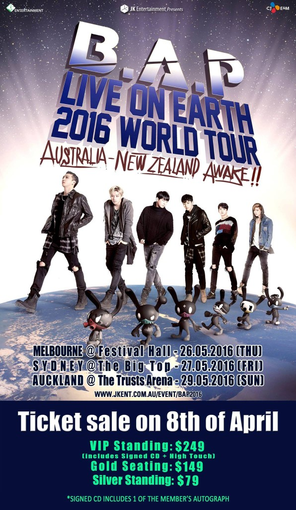 Bap World Tour  Dates