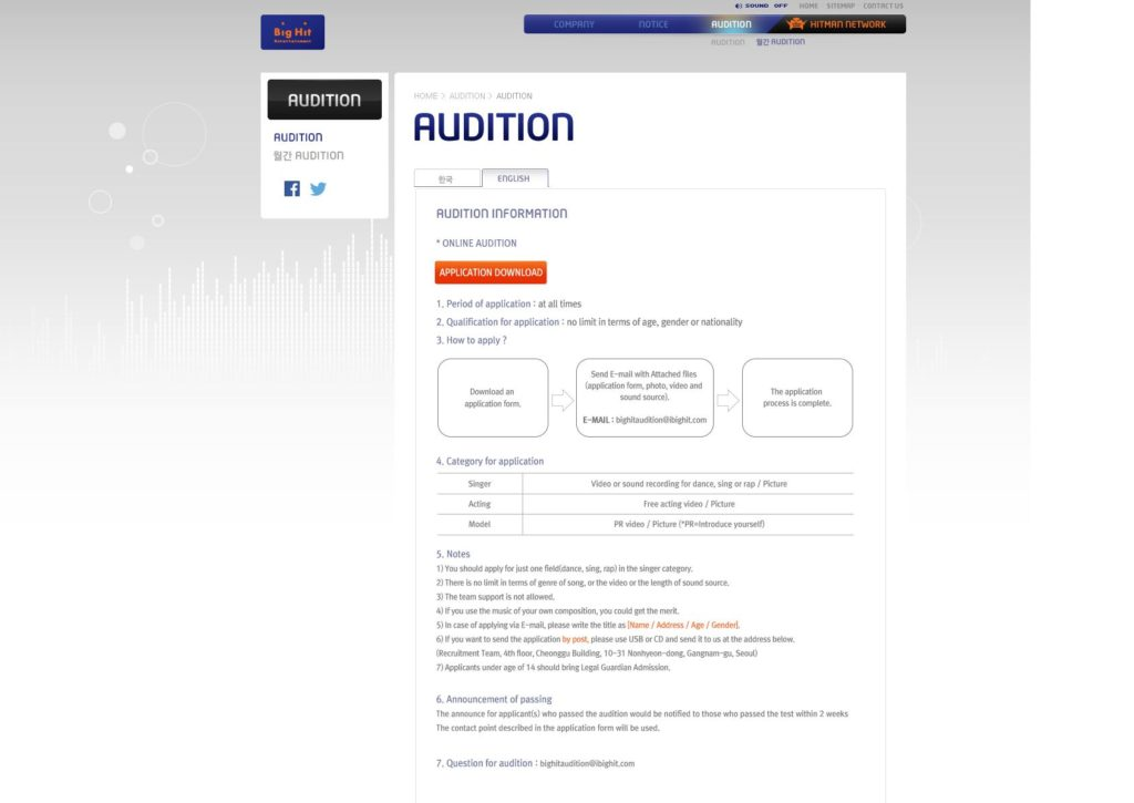 Big Hit Auditions