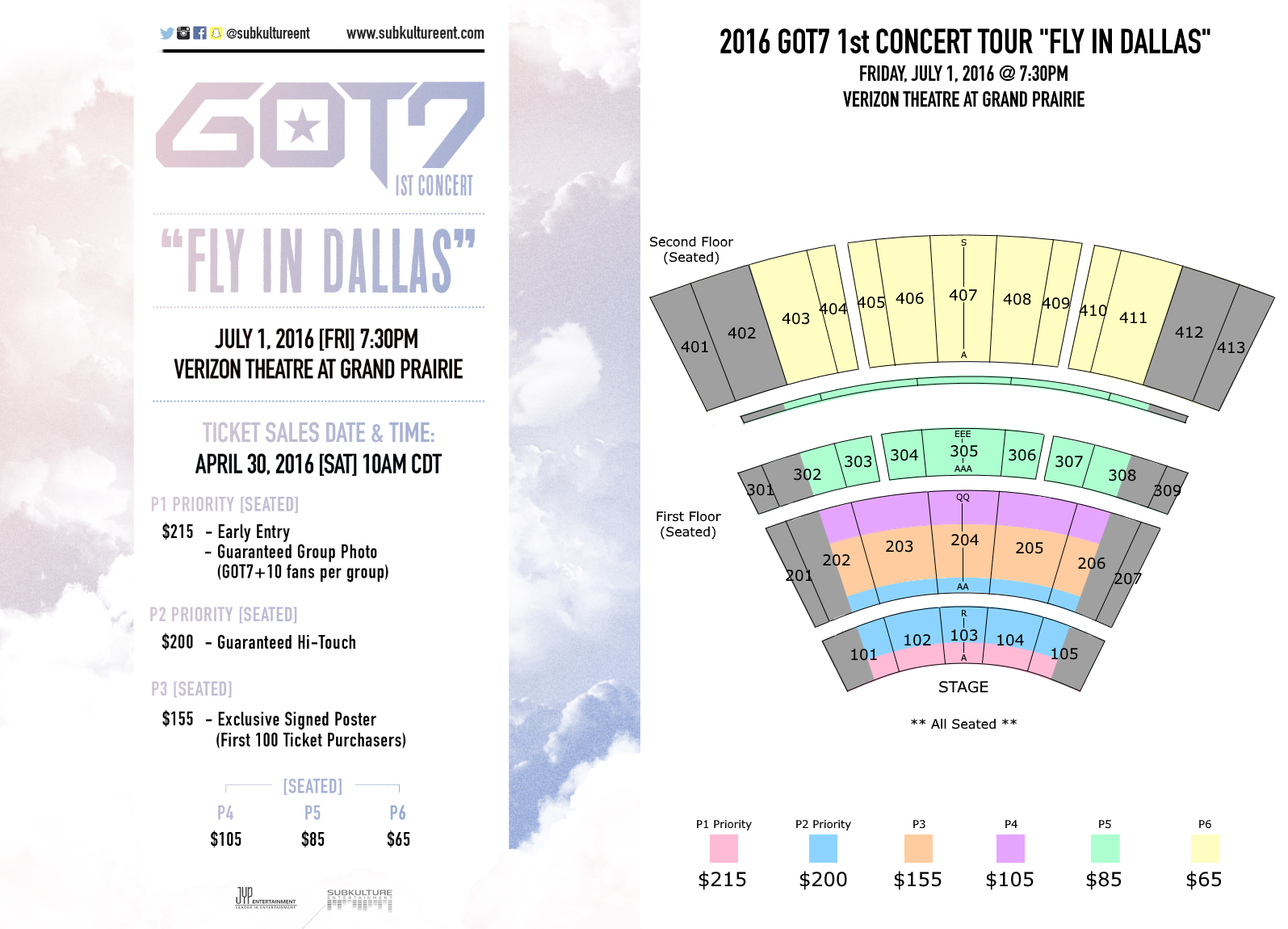 Ticket Prices And Seating Plans Announced For Got7 Fly In Usa Tour