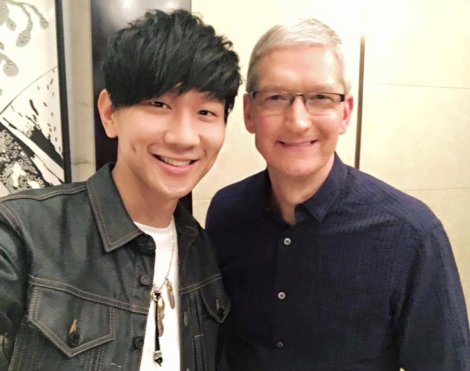 JJ Lin jams on GarageBand with Apple CEO Tim Cook