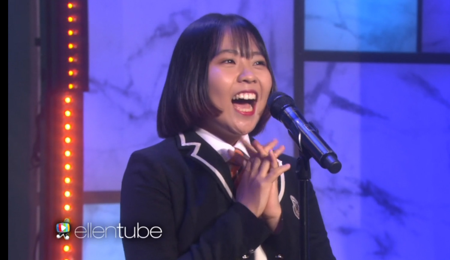 Lydia Lee brand new Ariana Grande cover featured on Ellen Tube