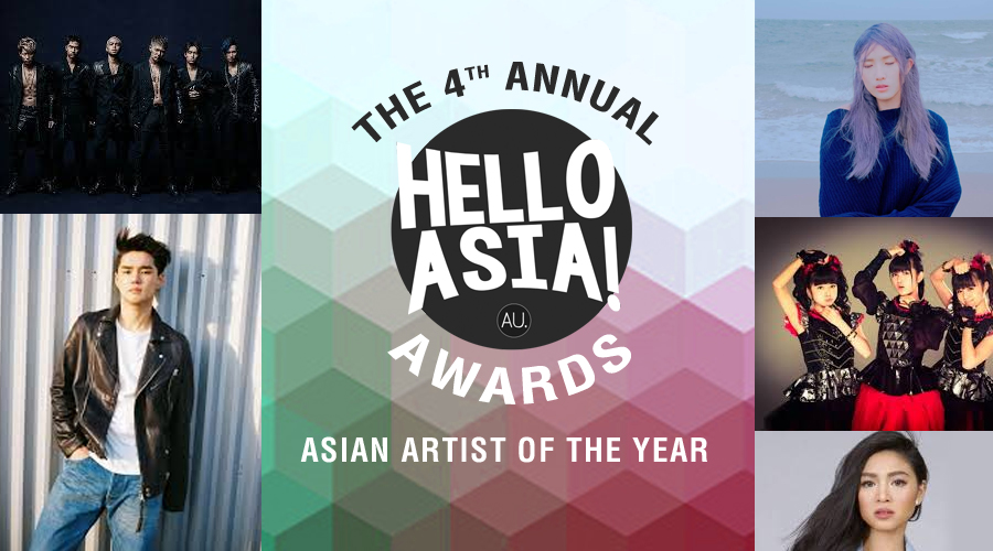 Vote now in the annual Hello Asia! Asian Artist of the Year Award Public Category