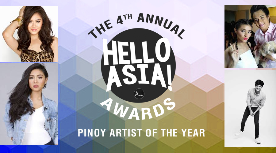 2016 Hello Asia! Pinoy Artist of the Year – Nominees Revealed: Vote now for your favourite!
