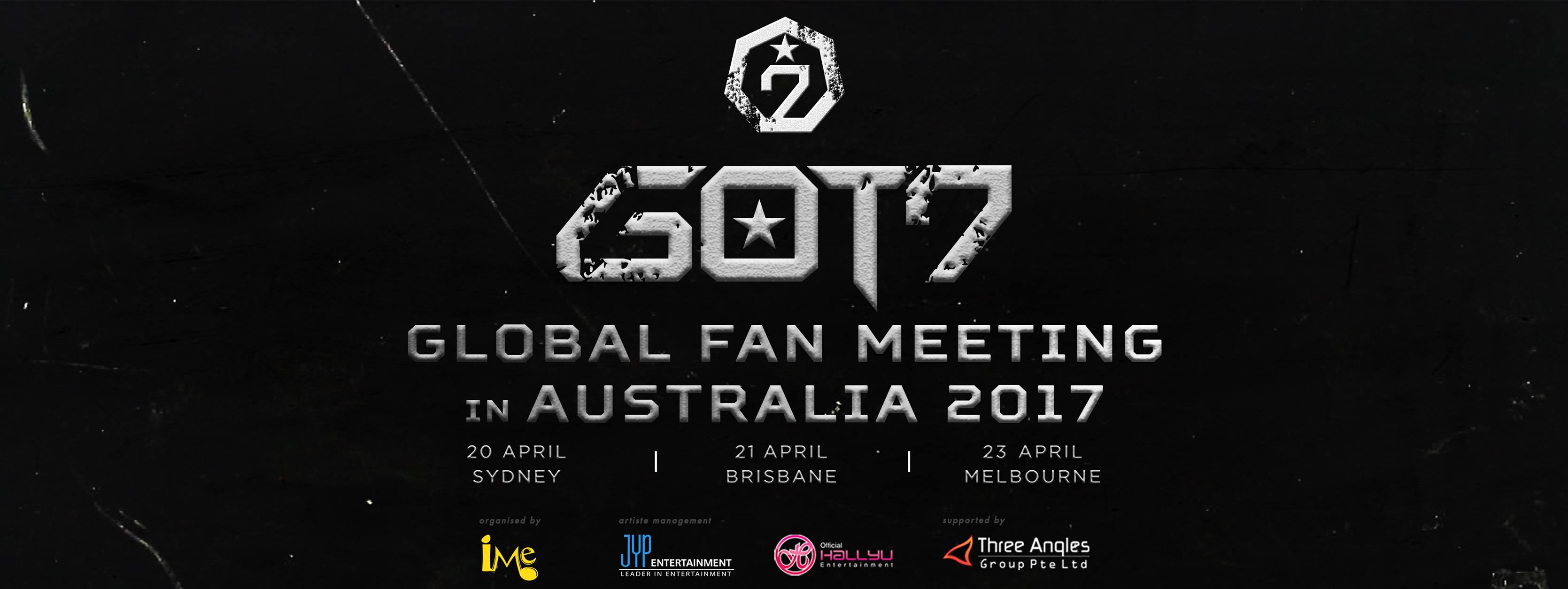 Dates and cities announced for GOT7 Global Fan Meeting in Australia 2017