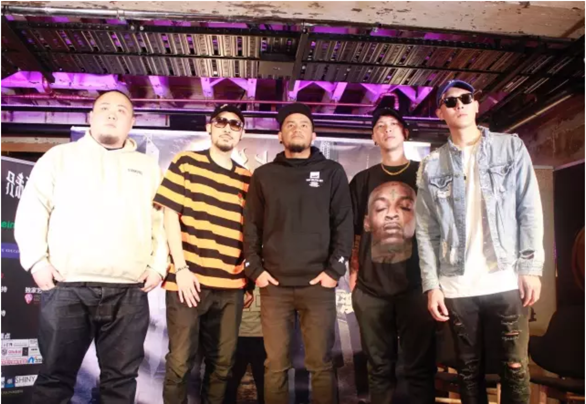 Members of Hip Hop group G.U.T.S hold press conference in Sydney