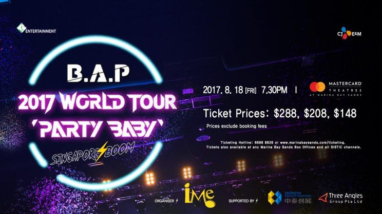 "B.A.P World Tour ""Party Baby"" Is Coming To Singapore This August"