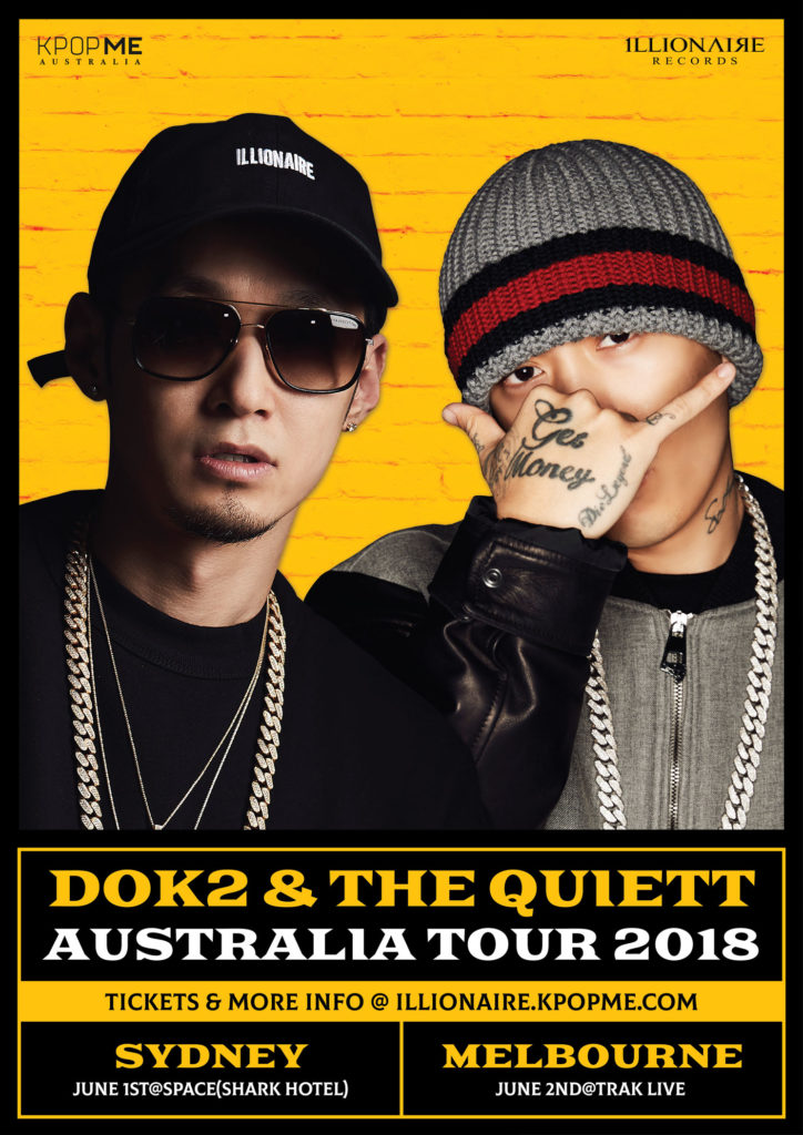 Korean rappers Dok2 and The Quiett announce Australian Tour