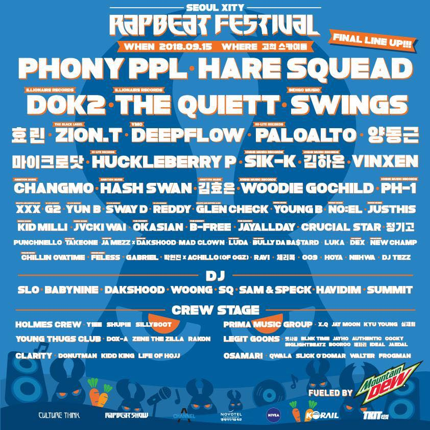 Live Review: Rapbeat Festival 2018 – Gocheok Sky Dome, Seoul (15.09.18)