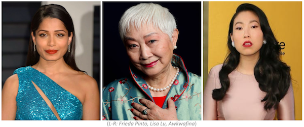 Asian World Film Festival to honour Freida Pinto, Lisa Lu and Awkwafina