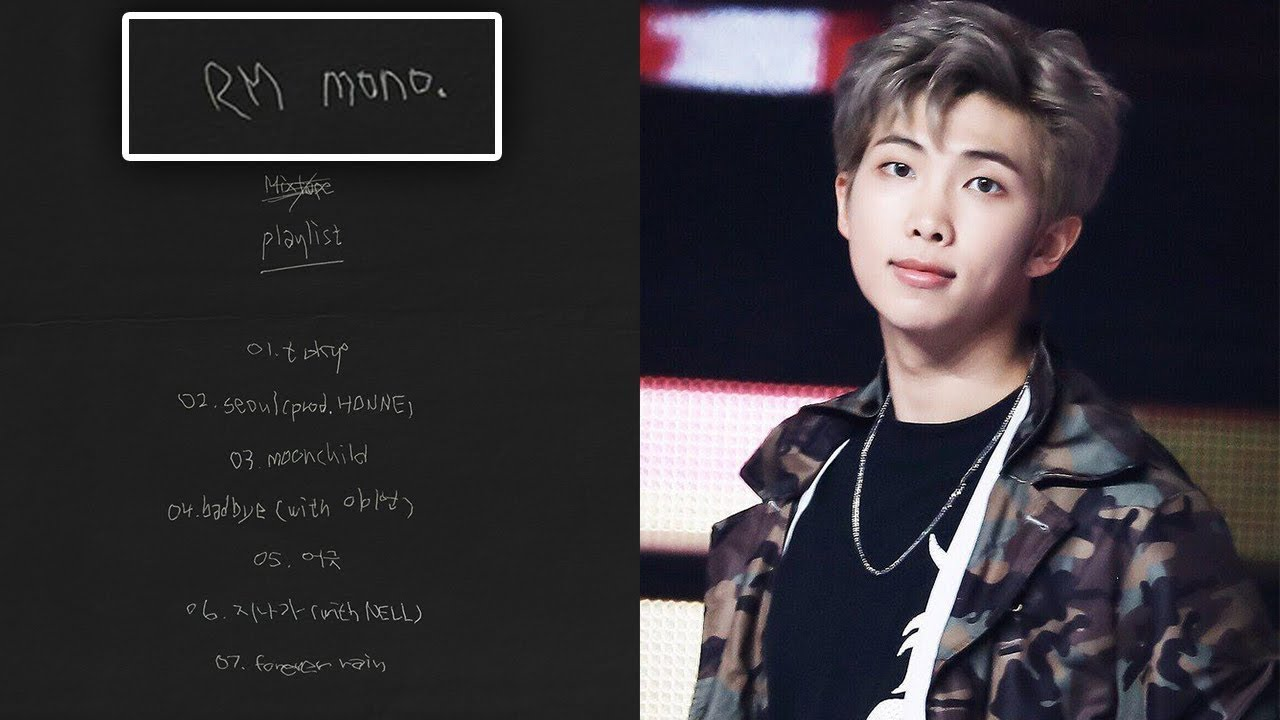 BTS leader RM has released a solo mixtape and fans are