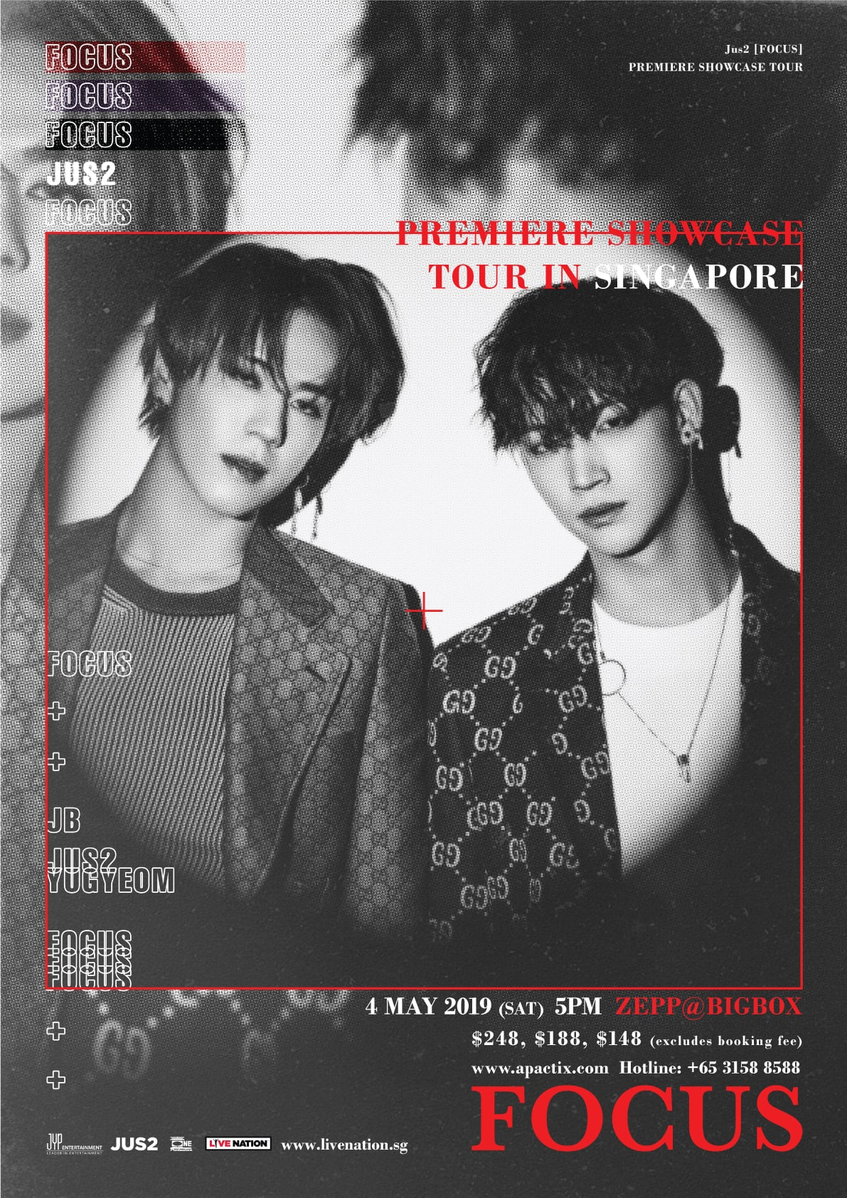 "GOT7's Jus2 Announced ""Focus"" Showcase Tour in Singapore"
