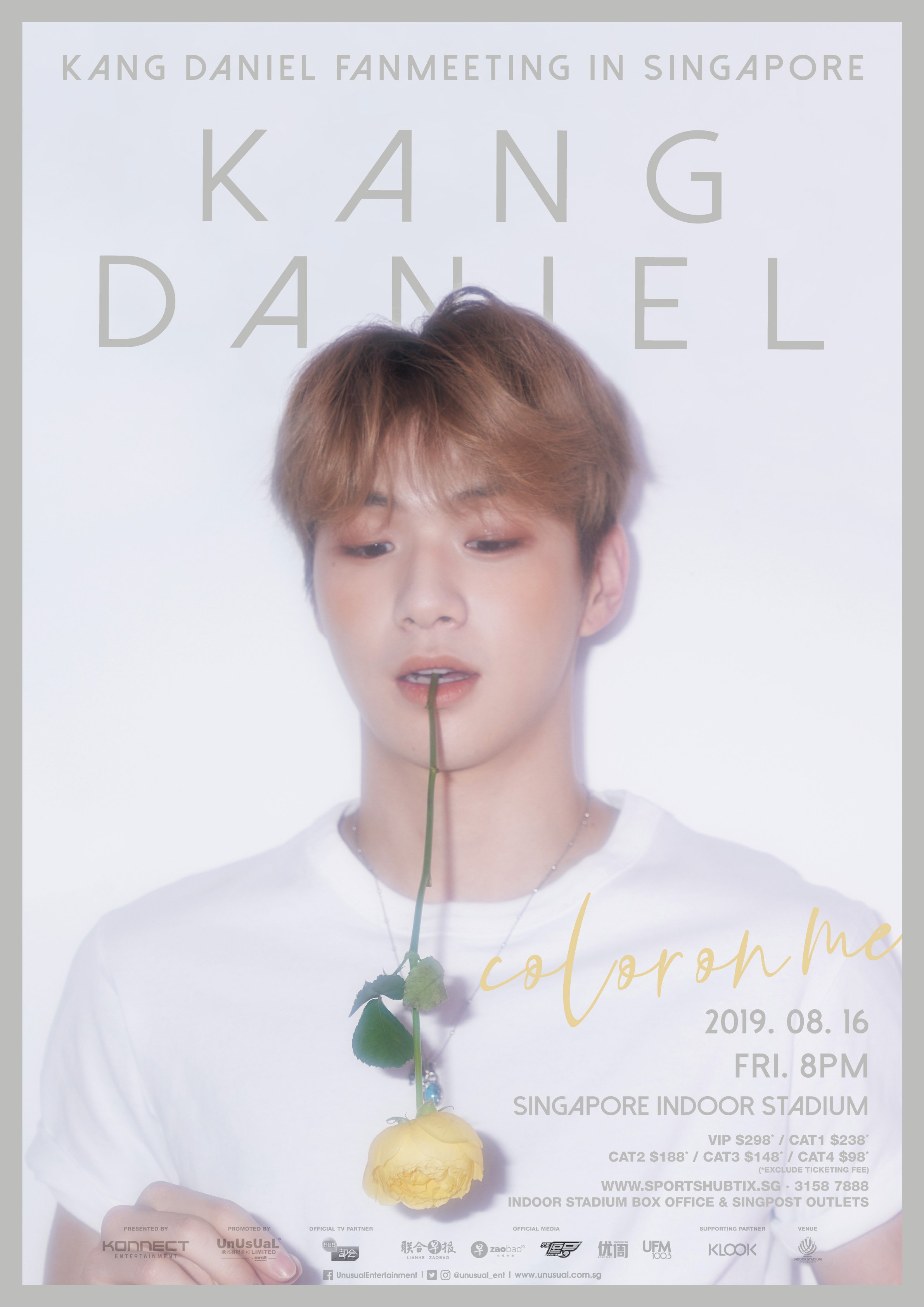 Kang Daniel Announces 'Color On Me' Fan Meeting in Singapore