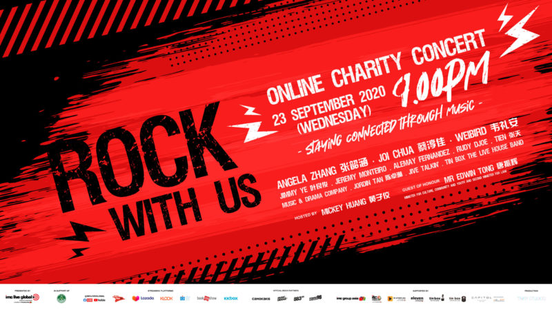 Charity Concert Rock With Us to feature Angela Zhang, Joi Chua, Jeremy Monteiro and more